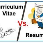 簡歷(CV)和履歷(resume)的不同